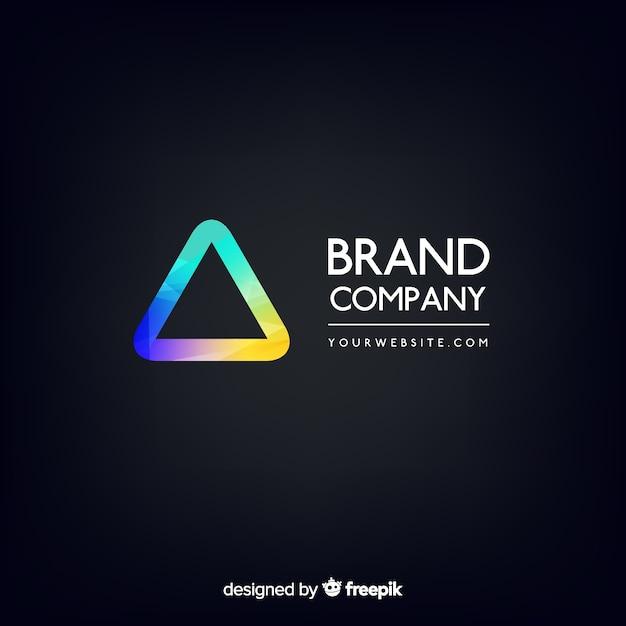 Modelo de logotipo abstrato gradiente Vetor grátis
