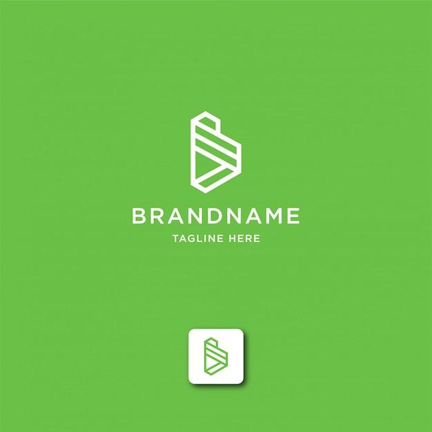 Modelo de logotipo abstrato letra b Vetor Premium