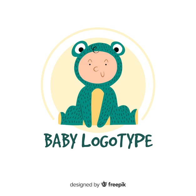 Modelo de logotipo adorável loja de bebê Vetor grátis