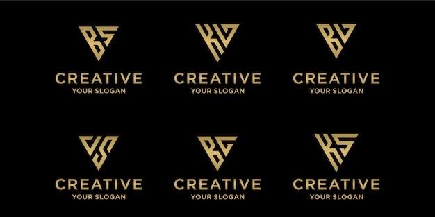 Modelo de logotipo criativo Vetor Premium