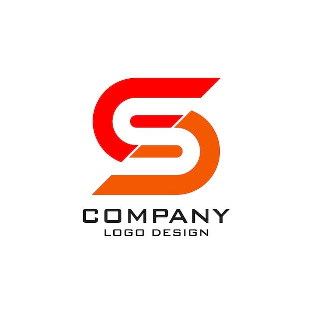 Modelo de logotipo da letra s Vetor Premium