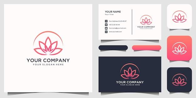 Modelo de logotipo da lotus Vetor Premium