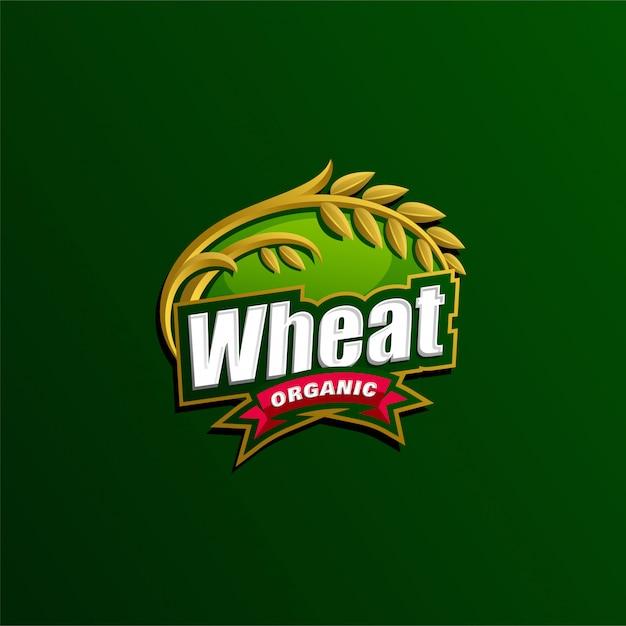 Modelo de logotipo de agricultura Vetor Premium