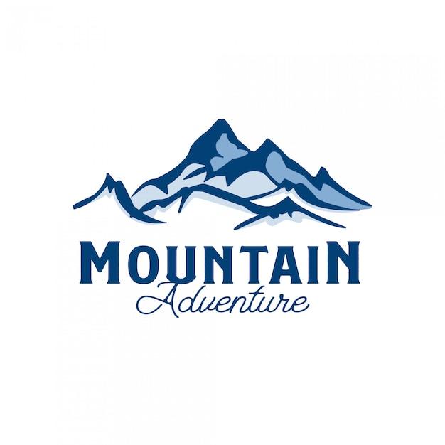 Modelo de logotipo de aventura na montanha Vetor Premium