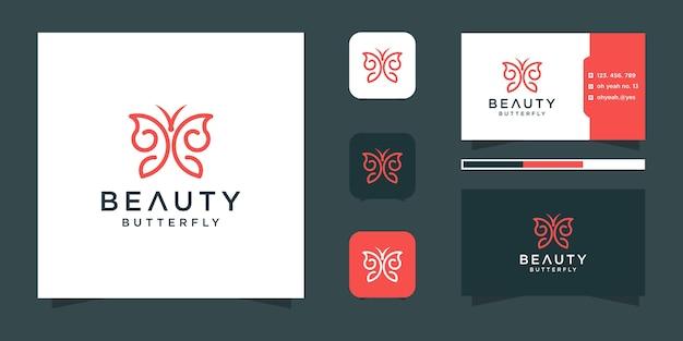 Modelo de logotipo de borboleta Vetor Premium
