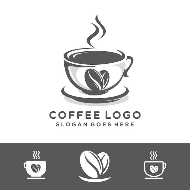 Modelo de logotipo de café Vetor Premium