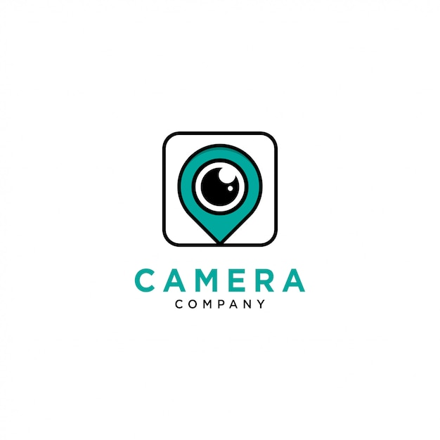 Modelo de logotipo de câmera Vetor Premium