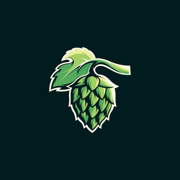 Modelo de logotipo de cerveja Vetor Premium