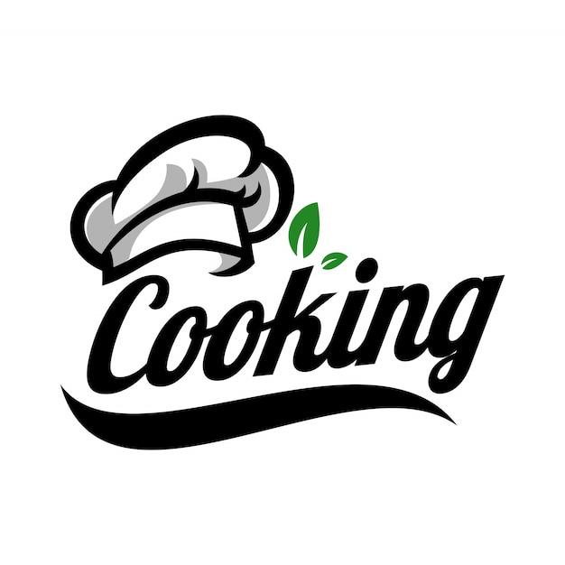 Modelo de logotipo de cozinha Vetor Premium