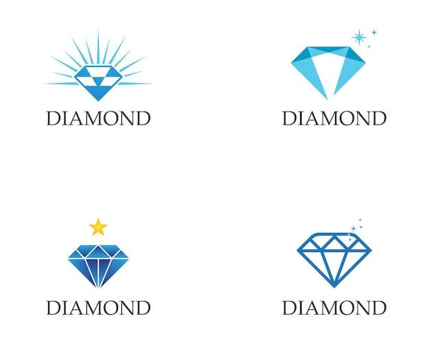 Modelo de logotipo de diamante Vetor Premium