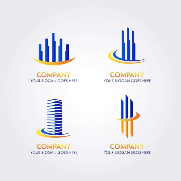 Modelo de logotipo de empresa de negócio abstrato Vetor Premium