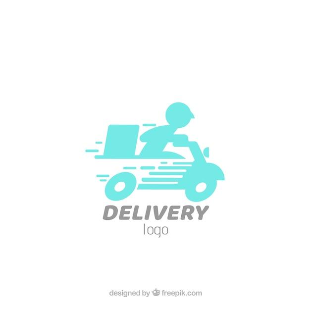 Modelo de logotipo de entrega Vetor grátis