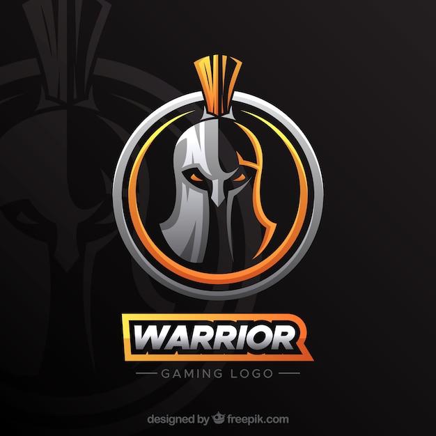 Modelo de logotipo de equipe de esportes-e com cavaleiro Vetor grátis