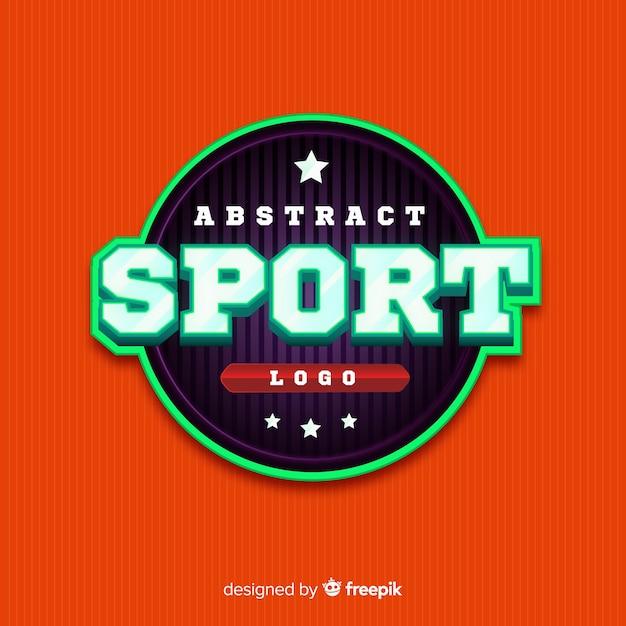 Modelo de logotipo de esportes abstratos Vetor grátis