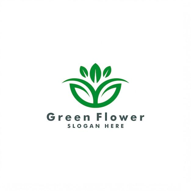 Modelo de logotipo de flor abstrata. design de logotipo da natureza Vetor Premium