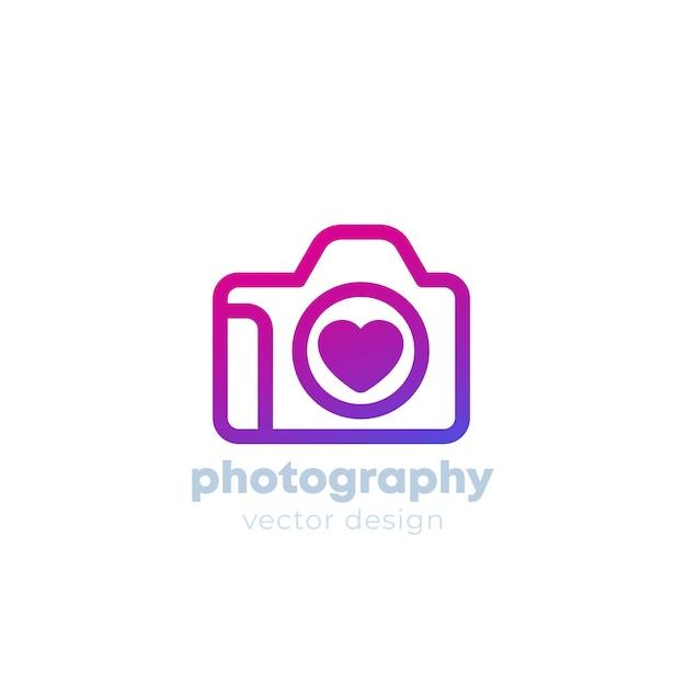 Modelo de logotipo de fotografia Vetor Premium