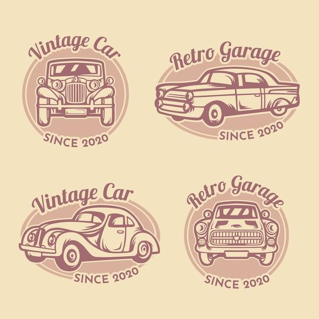 Modelo de logotipo de garagem de carros antigos Vetor grátis