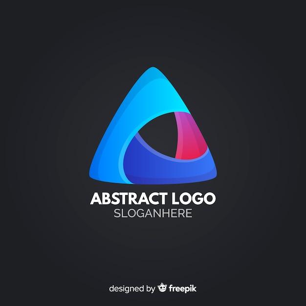 Modelo de logotipo de gradiente com forma abstrata Vetor grátis