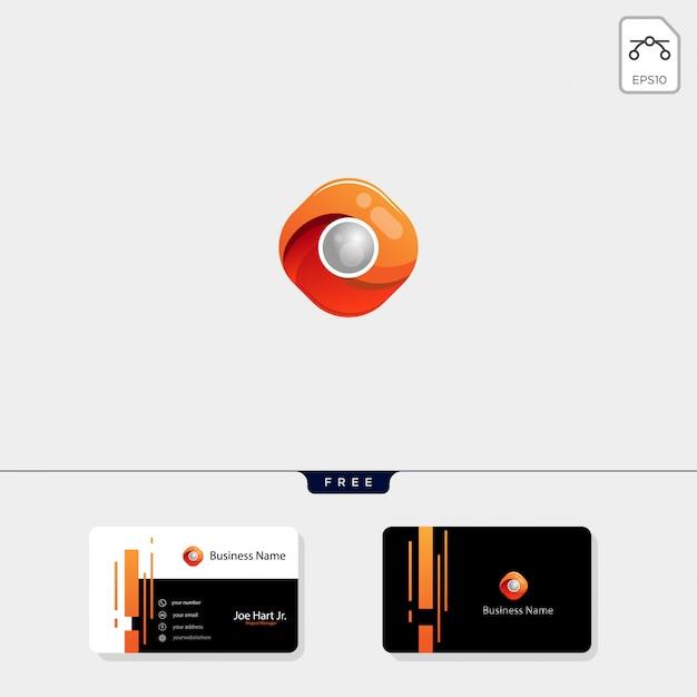 Modelo de logotipo de hexágono de fotografia Vetor Premium