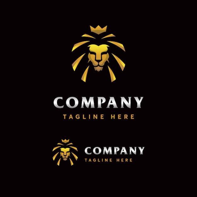 Modelo de logotipo de leão premium Vetor Premium