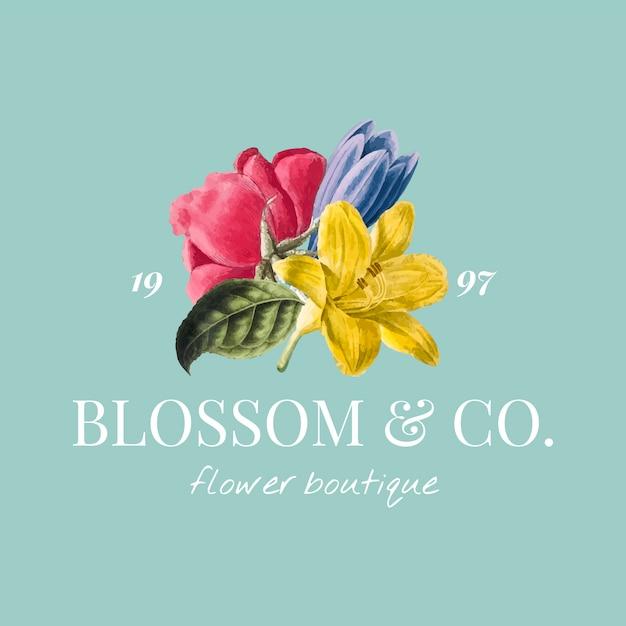 Modelo de logotipo de marca de flor Vetor grátis