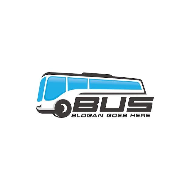 Modelo de logotipo de ônibus Vetor Premium