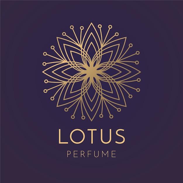 Modelo de logotipo de perfume floral de luxo Vetor grátis