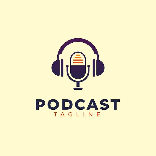 Modelo de logotipo de podcast detalhado Vetor grátis