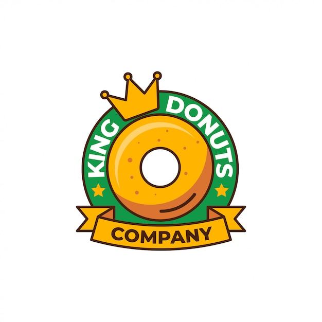 Modelo de logotipo de rosquinhas Vetor Premium