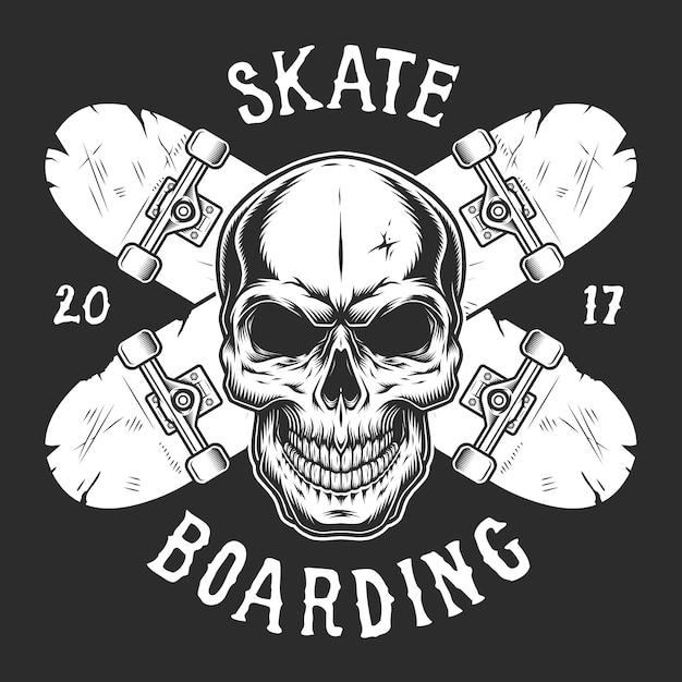 Modelo de logotipo de skate vintage Vetor grátis