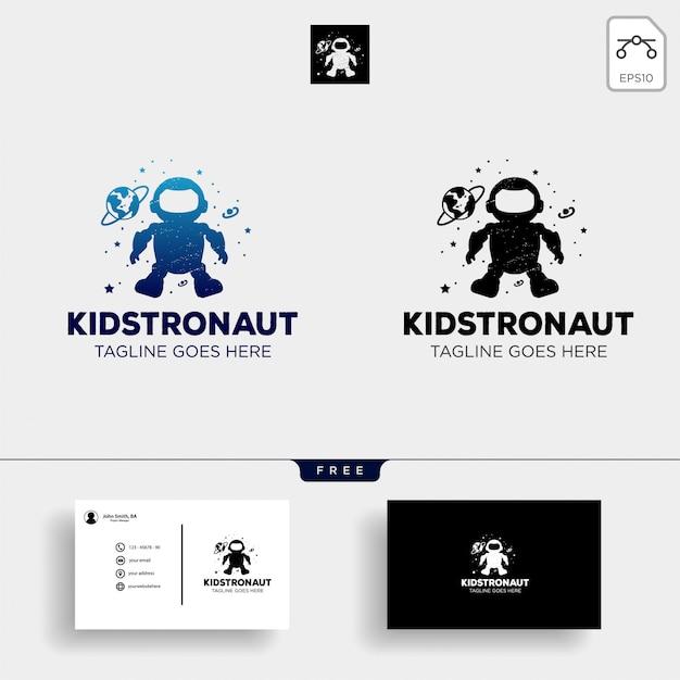 Modelo de logotipo de sonhos de crianças Vetor Premium