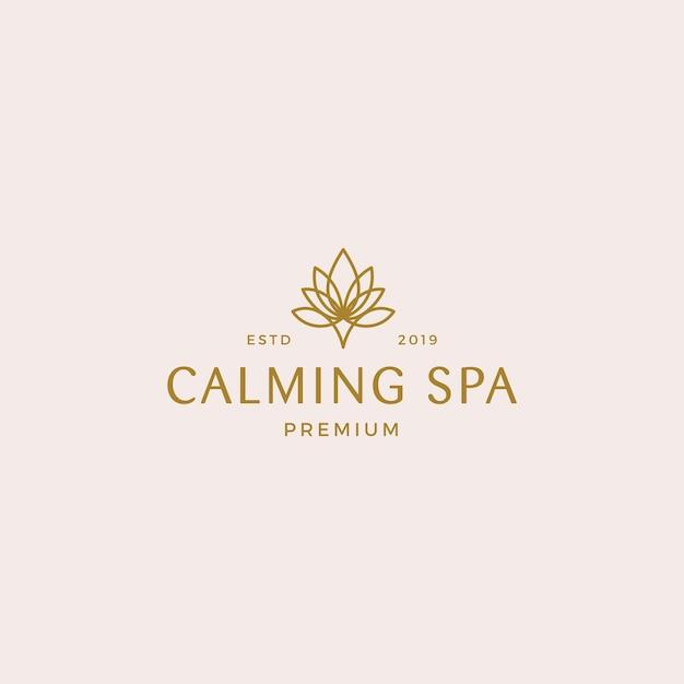 Modelo de logotipo de spa relaxante Vetor Premium