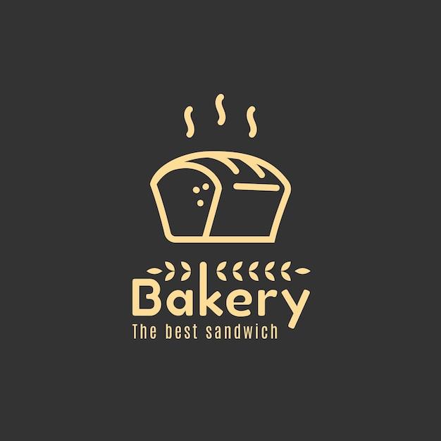 Modelo de logotipo de supermercado com pão cozido Vetor grátis
