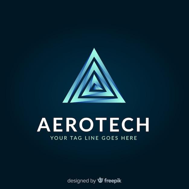 Modelo de logotipo de tecnologia com formas abstratas Vetor grátis