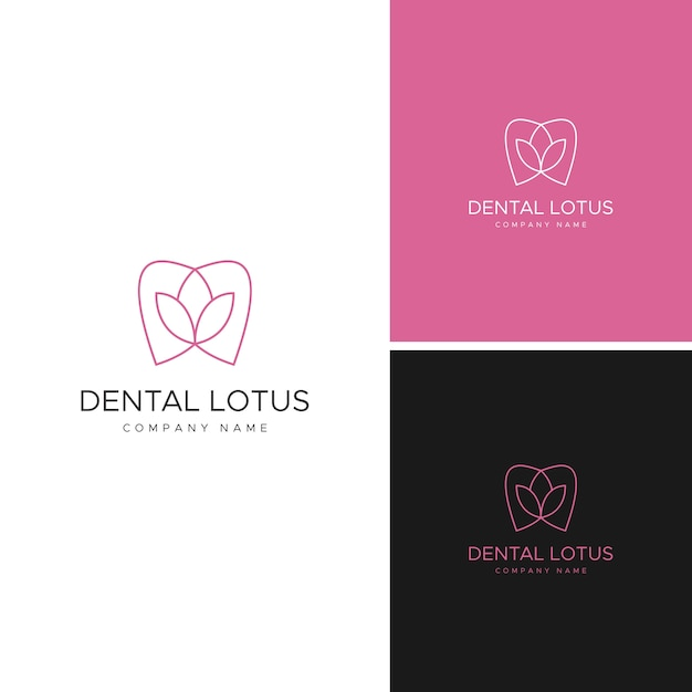Modelo de logotipo dental Vetor Premium