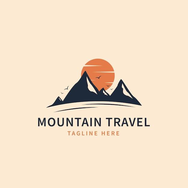 Modelo de logotipo detalhado de viagens Vetor Premium