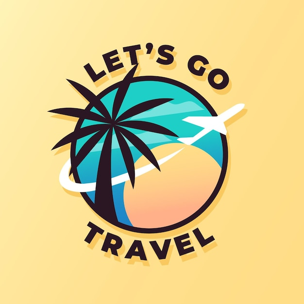 Modelo de logotipo detalhado de viagens Vetor grátis