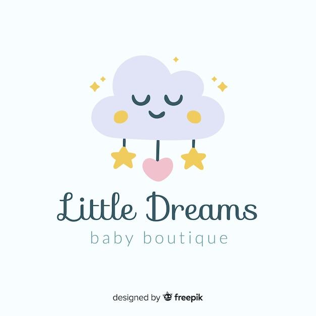 Modelo de logotipo do bebê Vetor grátis