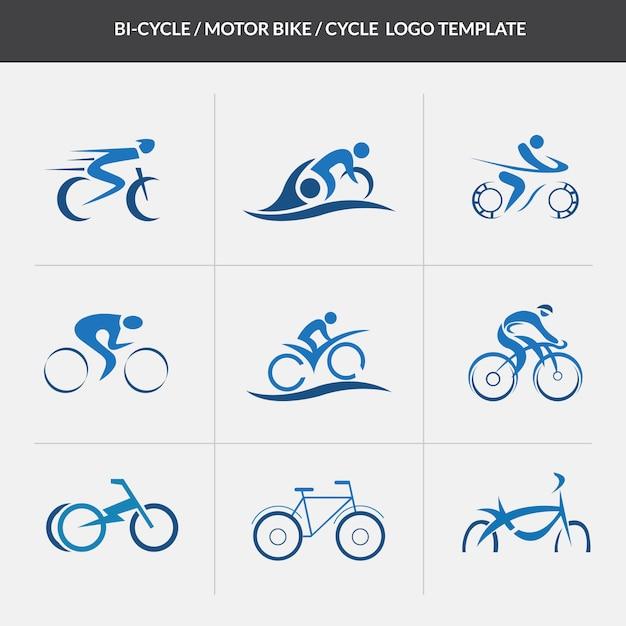 Modelo de logotipo do ciclo motorcycle Vetor Premium