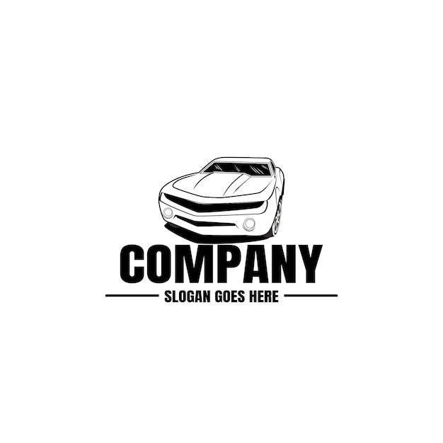 Modelo de logotipo do veículo. ícone de carro pelo design de negócios. aluguel, reparo, conceito de garagem de loja. Vetor Premium