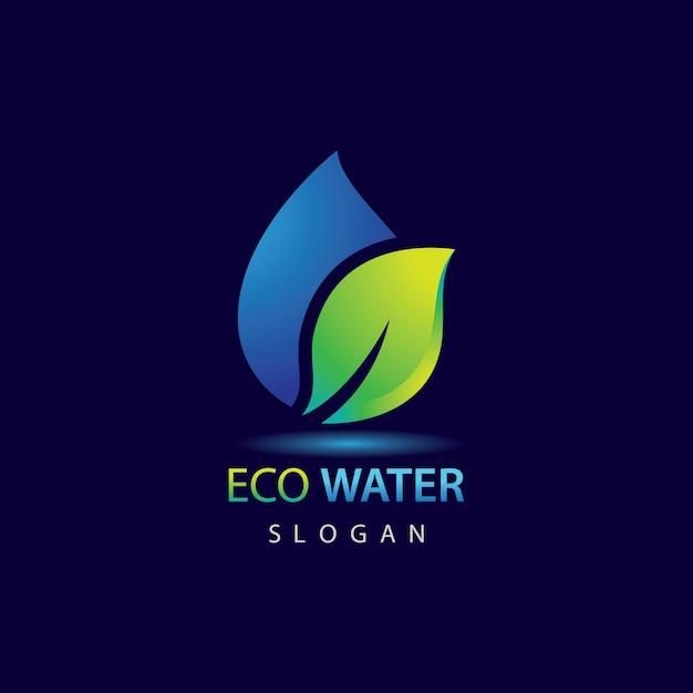 Modelo de logotipo eco water Vetor Premium