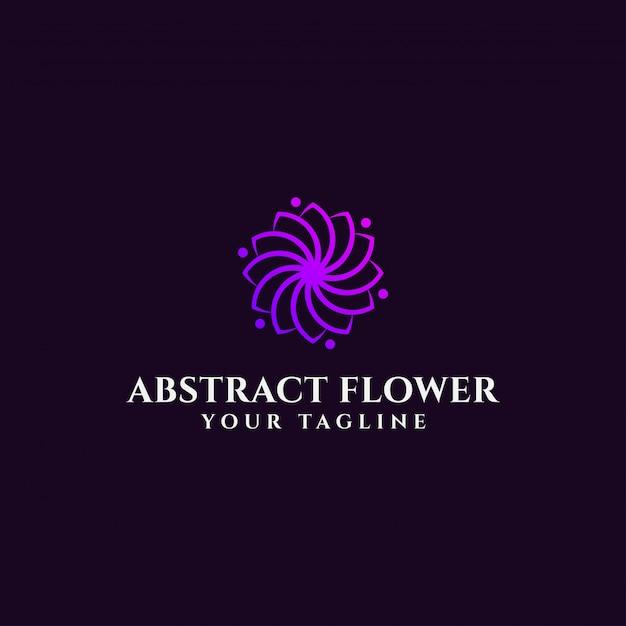 Modelo de logotipo elegante flor abstrata Vetor Premium