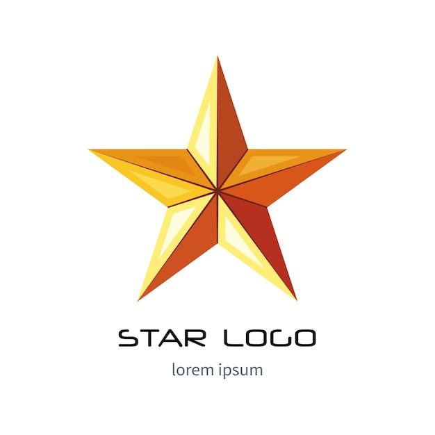 Modelo de logotipo estrela dourada Vetor Premium