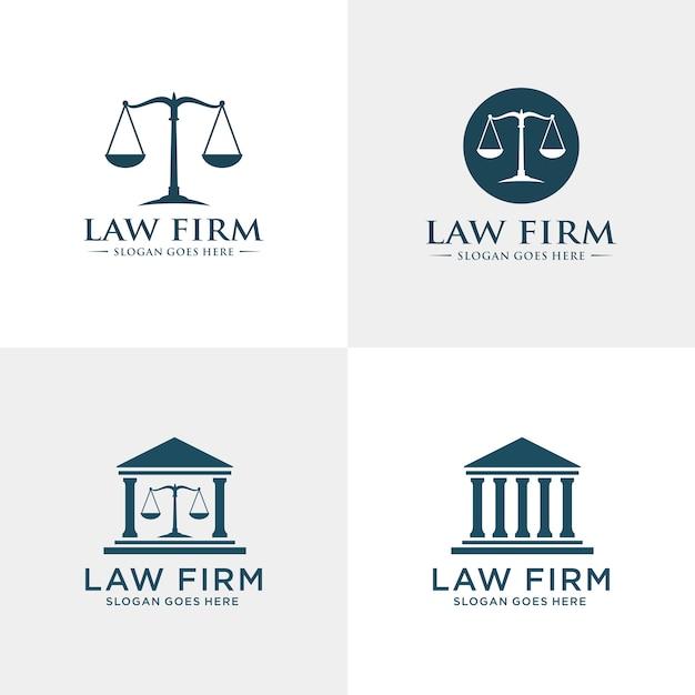 Modelo de logotipo firme de direito Vetor Premium