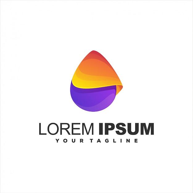 Modelo de logotipo gradiente abstrato impressionante Vetor Premium