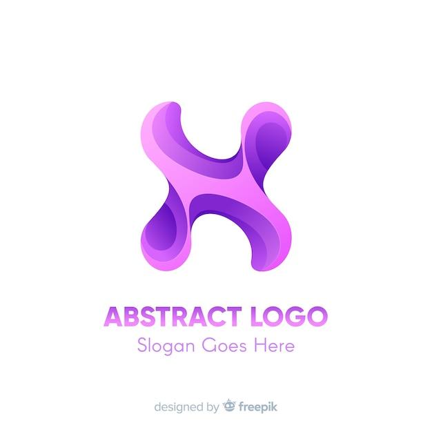 Modelo de logotipo gradiente com forma abstrata Vetor grátis