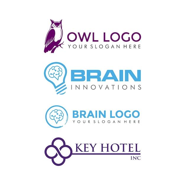 Modelo de logotipo moderno e minimalista Vetor Premium