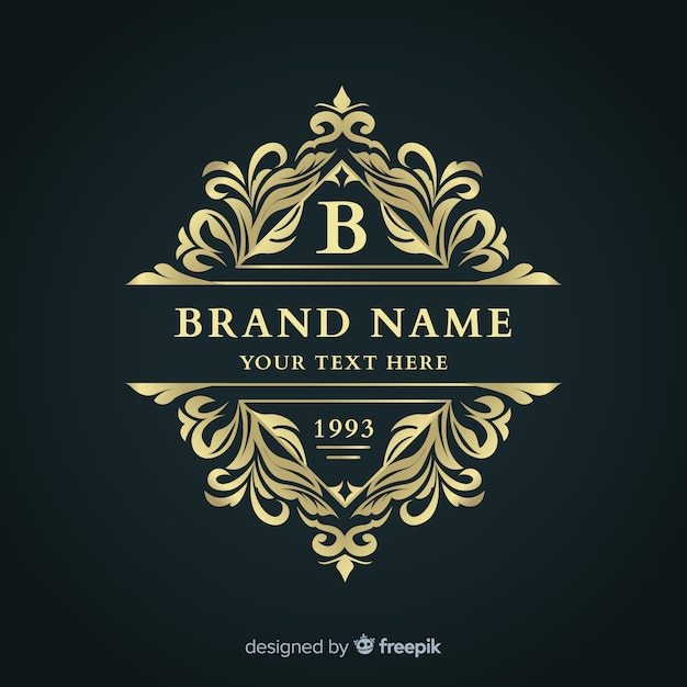 Modelo de logotipo ornamental elegante Vetor grátis