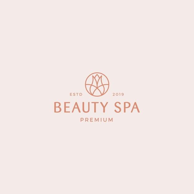 Modelo de logotipo premium de spa de beleza Vetor Premium