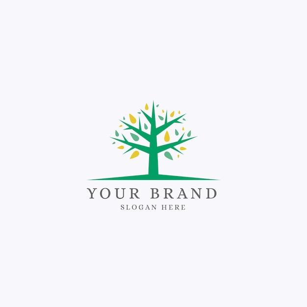 Modelo de logotipo tree life Vetor grátis